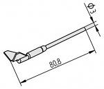 ERSA - 0452QDLF125/SB - Desoldering tip set legs at 90° angle, 12.5 mm, WL36467