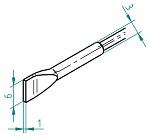 ERSA - 0462FDLF060/SB - Desoldering tip set chisel-shaped 6.0 mm, WL44102