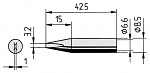 ERSA - 0842ED/SB - Soldering tip straight, chisel-shaped, 3.2 mm, WL36044