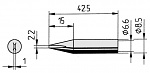 ERSA - 0842CD/SB - Soldering tip straight, chisel-shaped, 2.2 mm, WL36042