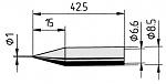 ERSA - 0842BD/SB - Soldering tip straight, pencil tip, 1.0 mm, WL36040