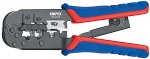 KNIPEX - 97 51 10 - Crimping pliers for Western plug burnished 190 mm, WL33455