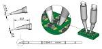 JBC - C120011 - Soldering tip chisel-shaped, curved, 0.6 x 0.3 mm, WL41664