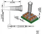 JBC - C115125 - Lötspitze meißelförmig, 1 x 0,2 mm, WL45432