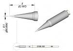 JBC - C115-101 - Löt-/Entlötspitze für Nano Handstücke 5 x 0,1 mm, konisch, gerade, WL43555