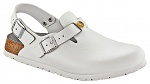 BIRKENSTOCK - 061410-39 - ESD-Clogs TOKIO with heel strap, natural leather, normal, white, size 39, WL28781