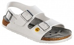BIRKENSTOCK - 634880-35 - ESD Sandals MILANO 35 white, normal, heel strap, WL28677