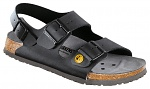 BIRKENSTOCK - 634790-35 - ESD Sandals MILANO 35 black, normal, heel strap, WL28691