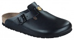 BIRKENSTOCK - 061368-37 - ESD-Clogs BOSTON 37, natural leather black, narrow, WL34897