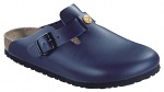 BIRKENSTOCK - 061380-39 - ESD-Clogs BOSTON 39, natural leather blue, normal, WL30002