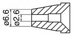 HAKKO - N60-06 - Desoldering nozzle for FR-400, 2.6 / 6.6 mm, WL42253