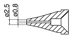HAKKO - N60-01 - Desoldering nozzle for FR-400, 0,8 / 2,5 mm, WL44020