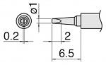 HAKKO - T30-D1 - Soldering tip Series T30, chisel-shaped 1 x 0.2 mm, WL34290