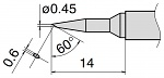 HAKKO - T15-SBC04 - Soldering tip for FM2027 and FM2028, D: 0.45 mm, 60° angled, WL27648