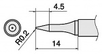 HAKKO - T15-SB02 - Soldering tip for FM2027 and FM2028, D: 0.2 mm, L: 14 mm, WL33976