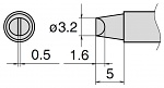 HAKKO - T15-D32 - Soldering tip for FM2027 and FM2028, 3.2 x 0.5 mm, WL27508