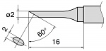 HAKKO - T15-CF2 - Soldering tip for FM2027 and FM2028, D 2 mm, 60° bevel, WL27367