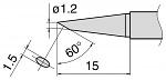 HAKKO - T15-BC12 - Soldering tip for FM2027 and FM2028, D 1,2 mm bevelled, WL27365