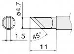 HAKKO - T15-KL - Soldering tip for FM2027 and FM2028, 4,7 x 1,5 mm, WL22997