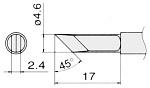 HAKKO - T15-KF - Soldering tip for FM2027 and FM2028, 4,6 x 2,4 mm, WL22995