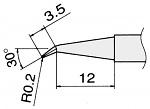 HAKKO - T15-J02 - Soldering tip for FM2027 and FM2028, D 0.2 mm, angled, WL22827