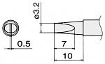 HAKKO - T15-DL4 - Soldering tip for FM2027 and FM2028, 4 x 1 mm, WL25428