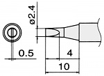 HAKKO - T15-D24 - Soldering tip for FM2027 and FM2028, 2.4 x 0.5 mm, WL22842