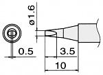 HAKKO - T15-D16 - Soldering tip for FM2027 and FM2028, 1.6 x 0.5 mm, WL22828