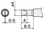 HAKKO - T15-D4 - Soldering tip for FM2027 and FM2028, 4 x 0.5 mm, WL22955