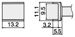 HAKKO - T12-1005 - Soldering tip for FM2027 and FM2028, 9,5 x 13,2 mm, WL23166