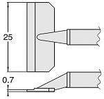 HAKKO - T8-1011 - Desoldering tip pair for desoldering tweezers FM2022, 0.7 x 25 mm, WL23415