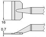 HAKKO - T8-1009 - Desoldering tip pair for desoldering tweezers FM2022, 0.7 x 6 mm, WL23413