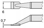 HAKKO - T8-1005 - Desoldering tip pair for desoldering tweezers FM2022, 0.7 x 6 mm, WL23409