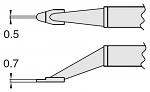 HAKKO - T8-1002 - Desoldering tip pair for desoldering tweezers FM2022, 0.5 x 0.7 mm, WL23406