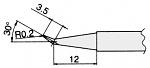 HAKKO - T7-J02 - Soldering tip for FM2027 and FM2028, D: 0.4 mm, 30° bevel, WL23319