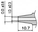 HAKKO - N3-23 - Desoldering nozzle for desoldering tool FM 2024, 2.3 / 3.8 mm, WL23427