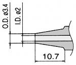 HAKKO - N3-20 - Desoldering nozzle for desoldering tool FM 2024, 2 / 3.4 mm, WL23426