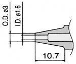 HAKKO - N3-16 - Desoldering nozzle for desoldering tool FM 2024, 1.6 / 3 mm, WL23424