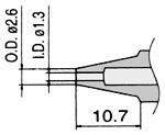 HAKKO - N3-13 - Desoldering nozzle for desoldering tool FM 2024, 1.3 / 2.6 mm, WL23423