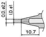 HAKKO - N3-10 - Desoldering nozzle for desoldering tool FM 2024, 1 / 2.2 mm, WL23422