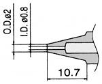HAKKO - N3-08 - Desoldering nozzle for desoldering tool FM 2024, 0.8 / 2 mm, WL23421