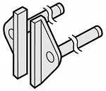 HAKKO - A1380 - Desoldering tip pair for soldering tweezers 950, 8 x 1 mm, WL21793