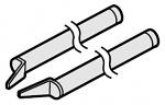 HAKKO - A1379 - Desoldering tip pair for soldering tweezers 950, 1 x 1 mm, WL21789