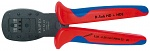 KNIPEX - 97 54 24 - Crimping pliers, for miniature plug Parallel crimp burnished 190 mm, WL27028