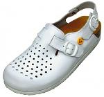 WARMBIER - 2550.79350.1.35 - ESD Clogs Ladies Elektra, heel strap, white, size 35, WL33656
