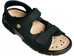 WARMBIER - 2550.2030.35 - ESD Sandal Ladies/Men Electra, heel strap, black, nubuck leather, size 35, WL33793