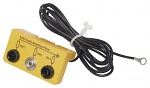 WARMBIER - 2200.W.5 - ESD earthing box, 1 x 10 mm push button, 2 x banana plug safety socket, yellow, WL32122
