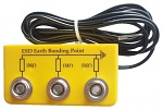 WARMBIER - 2200.W.3 - ESD Earthing box, 3 x 10 mm DK, yellow, angled, WL25939