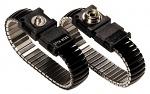 WARMBIER - 2052.750.5.3 - ESD Armband, Metallglieder, schwarz, 3 mm Druckknopf, WL20490