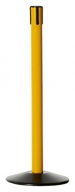 WARMBIER - 1801.G.P.Y - Belt barrier posts, post tube yellow, base plate black, WL28063